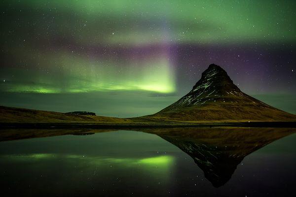 Nordlicht überm Kirkjufell 2 / Northern Light Reflections II