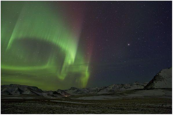 Nordlicht unweit von Vik