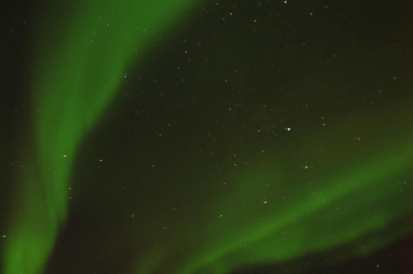 Nordlicht vom fahrenden Schiff aus