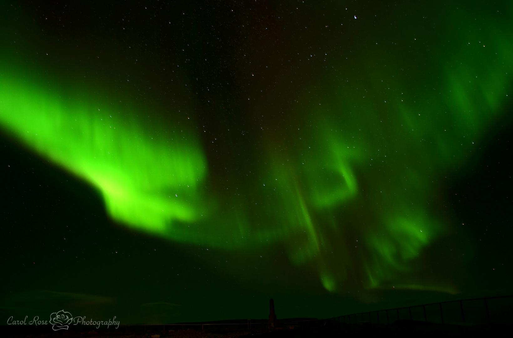 Nordlichter über dem Nordkapp
