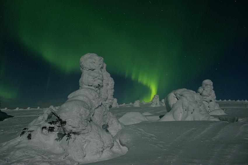 Nordlichter über Finnland-Lappland, Februar 2013