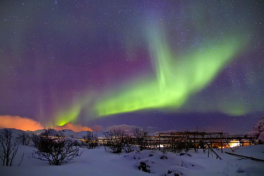 Nordlichtnacht auf den Lofoten