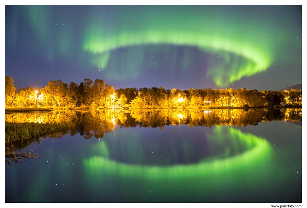 Nordlichtspiegelung