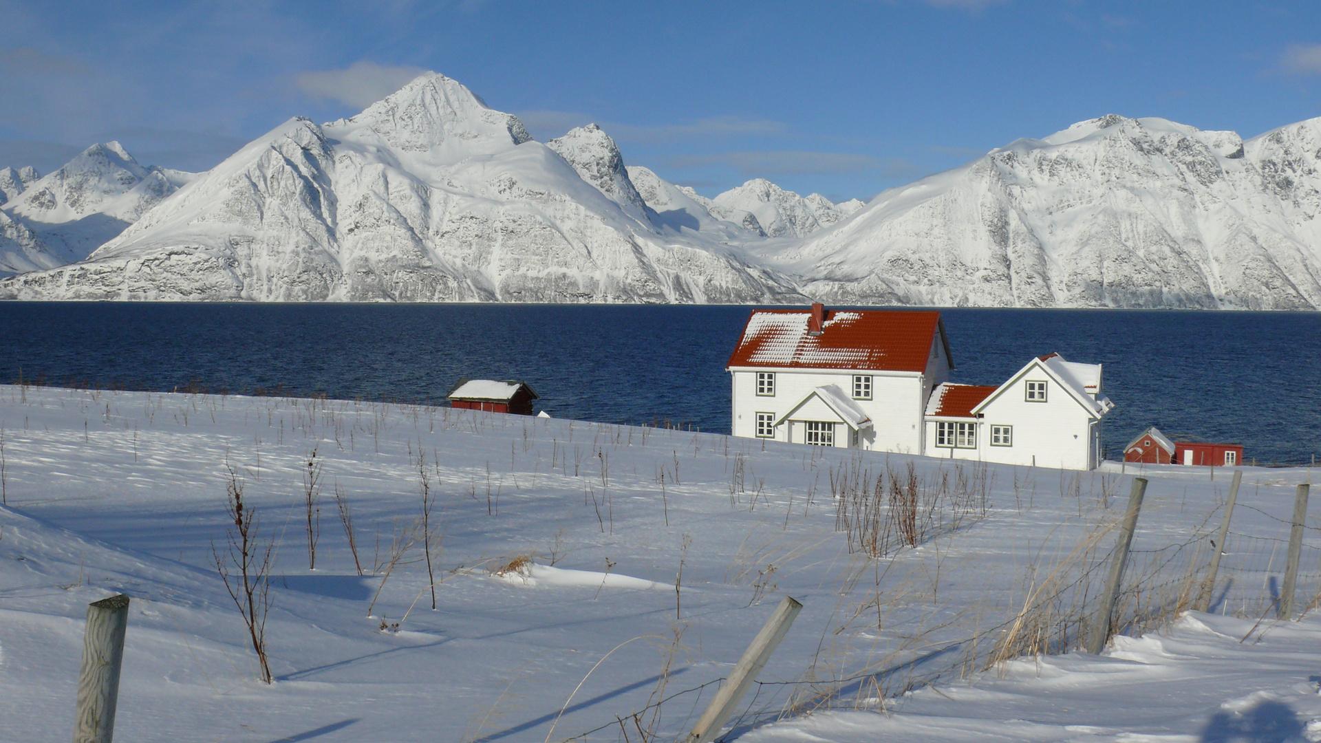 Nordnorwegen Djupvik Lyngenfjord
