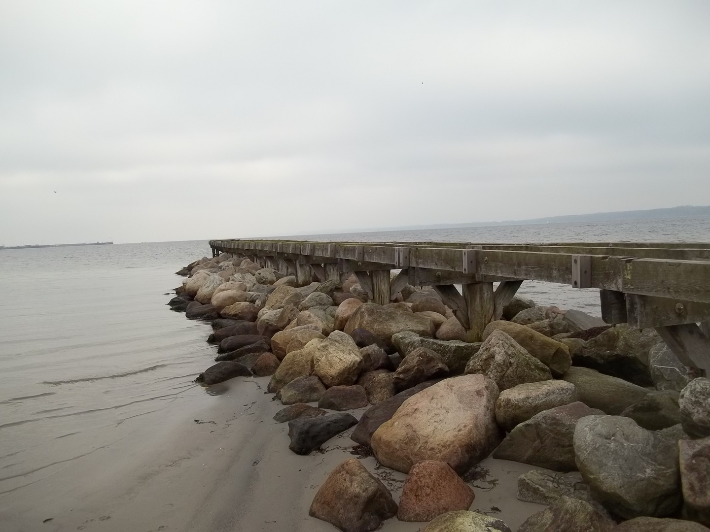 Nordsee 2012 Steg im Winter