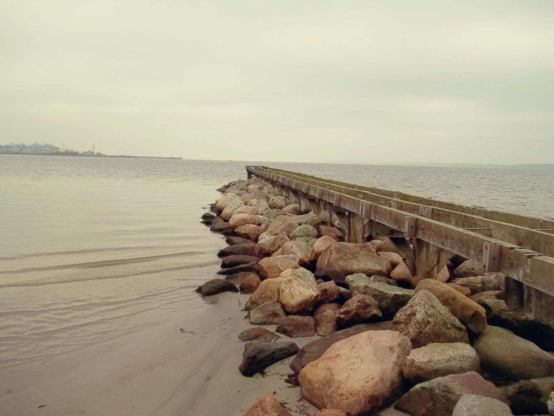 Nordsee 2012 Steg im Winter 2