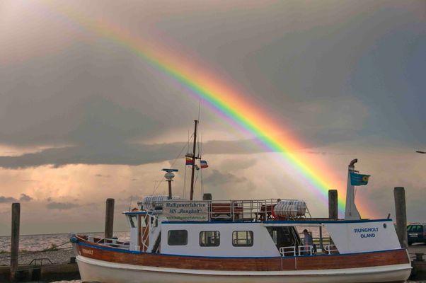 """""""Nordsee mit Regenbogen""""..."""