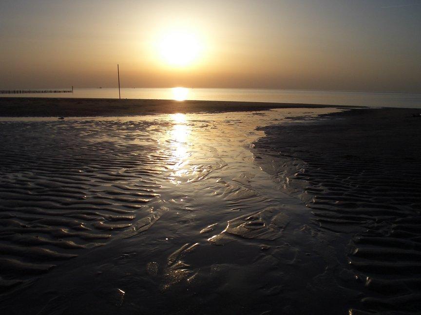Nordsee Sonnenuntergang NL Nieuwvliet