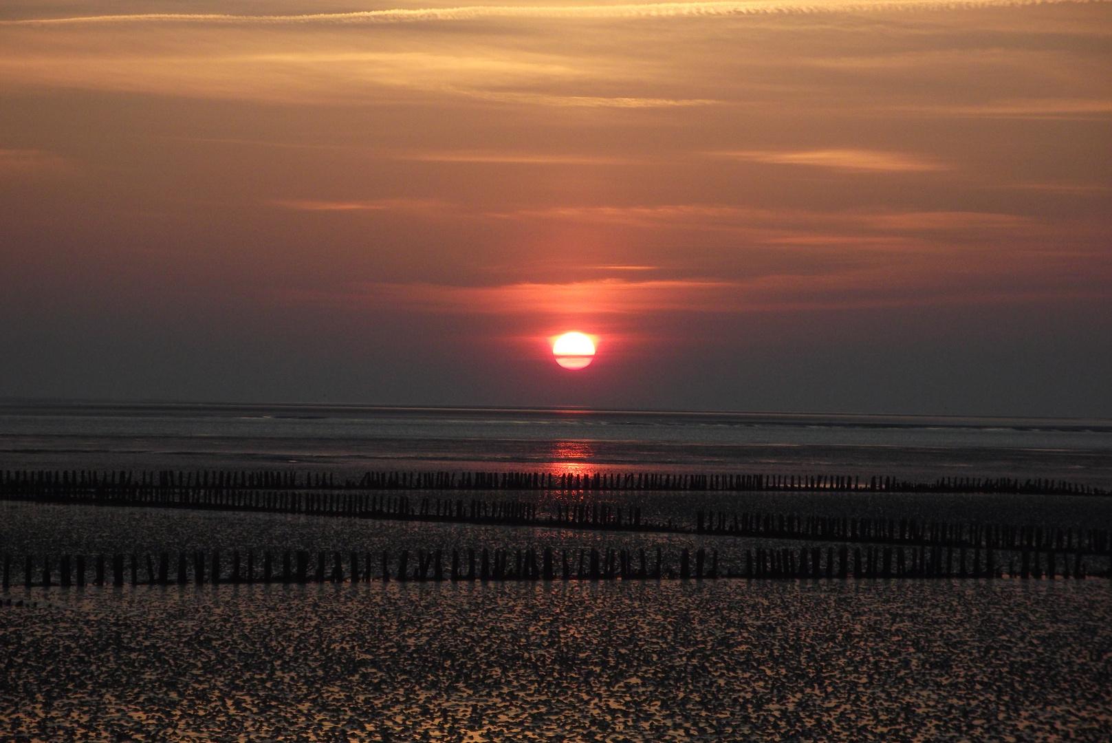 Nordsee.Sonnenuntergang