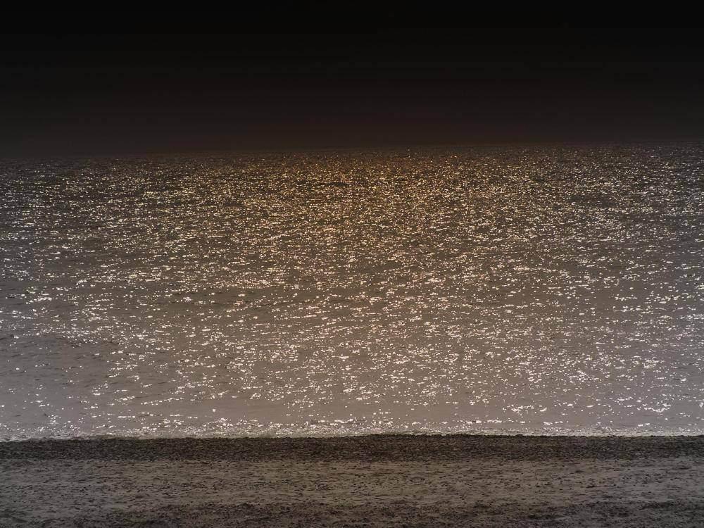 Nordseestrand in Dänemark im Abendlicht
