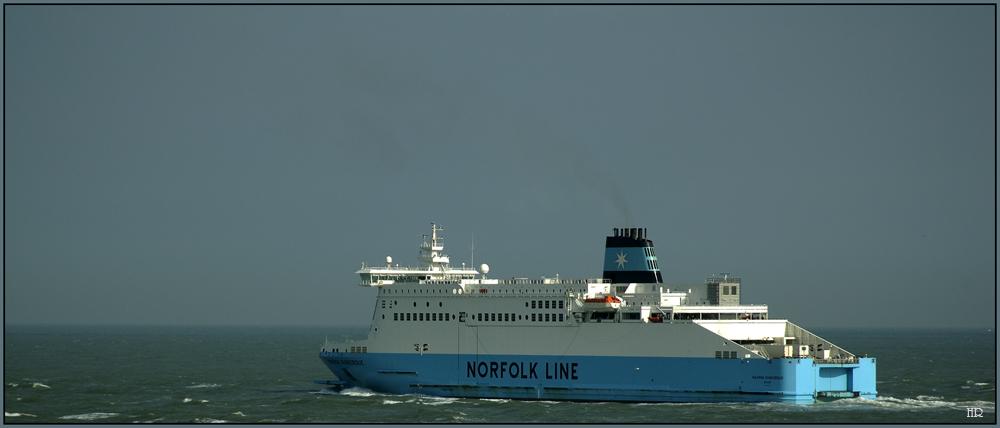 Norfolk Line auf der Fahrt von Dunkerque  nach Dover.