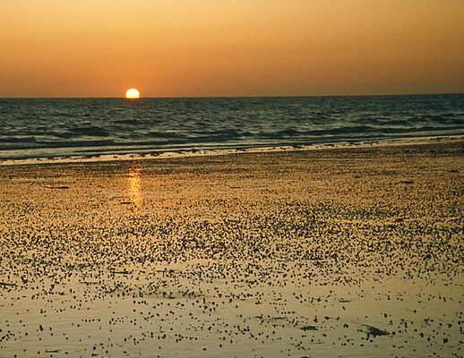 Normandie Sonnenuntergang bei Trouville