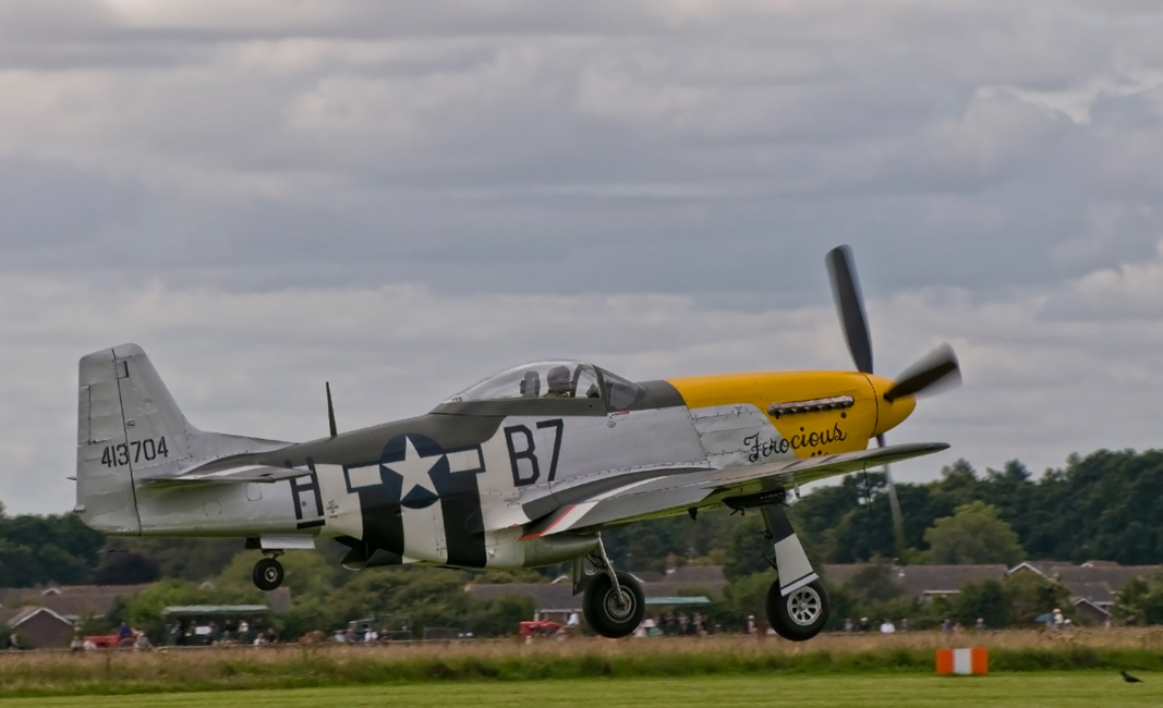 North American P - 51 Mustang - Take off at Goodwood