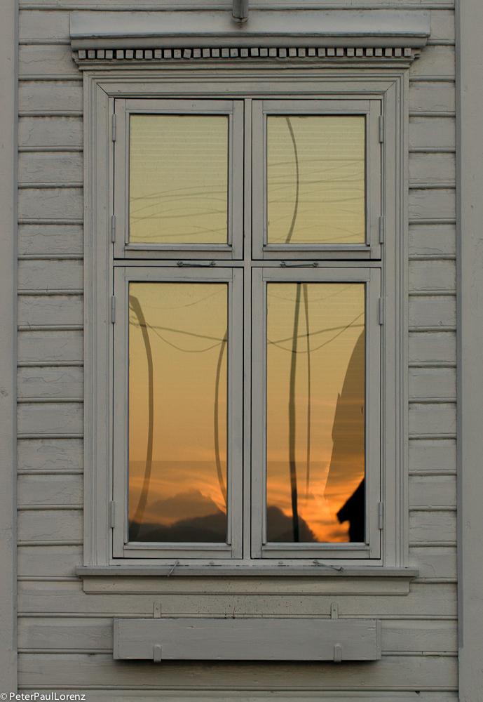 Norwegen Bergen Sonnenuntergang