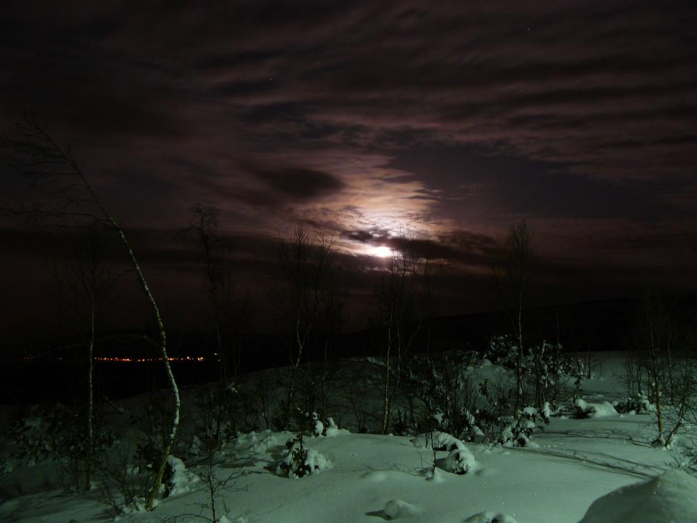 Norwegen im Mondschein