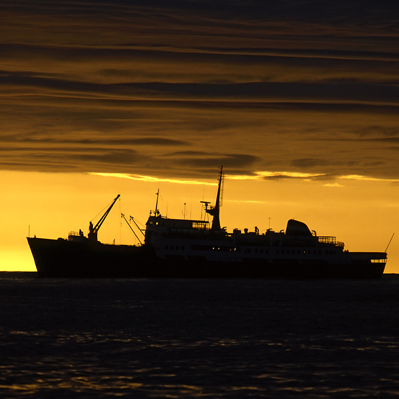 Norwegen-Schiff der Hurtigroute