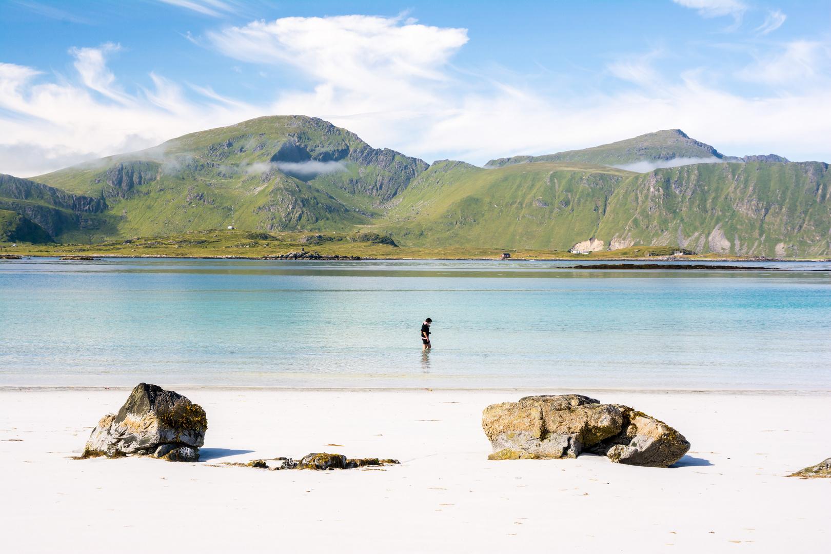 Norwegen,allein im Meer