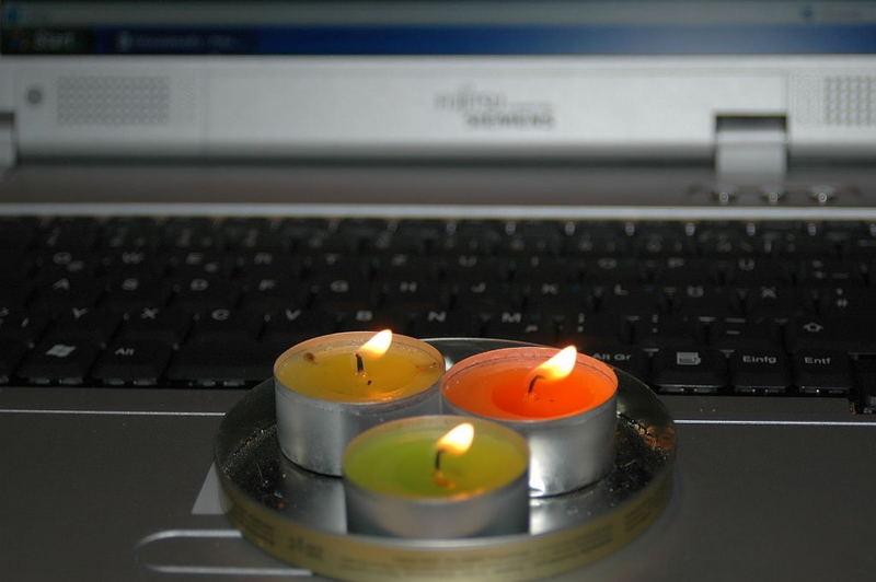 Notebook Beleuchtung zum 3. Advent