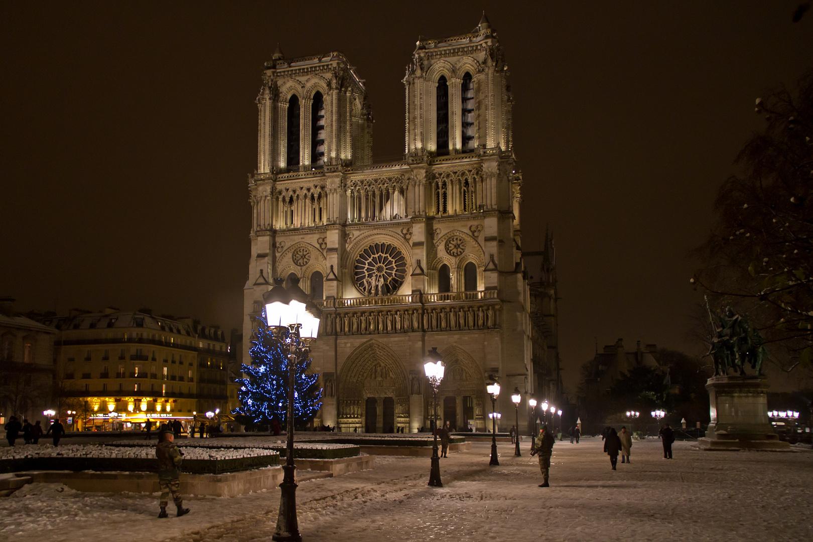 Notre Dame bewacht
