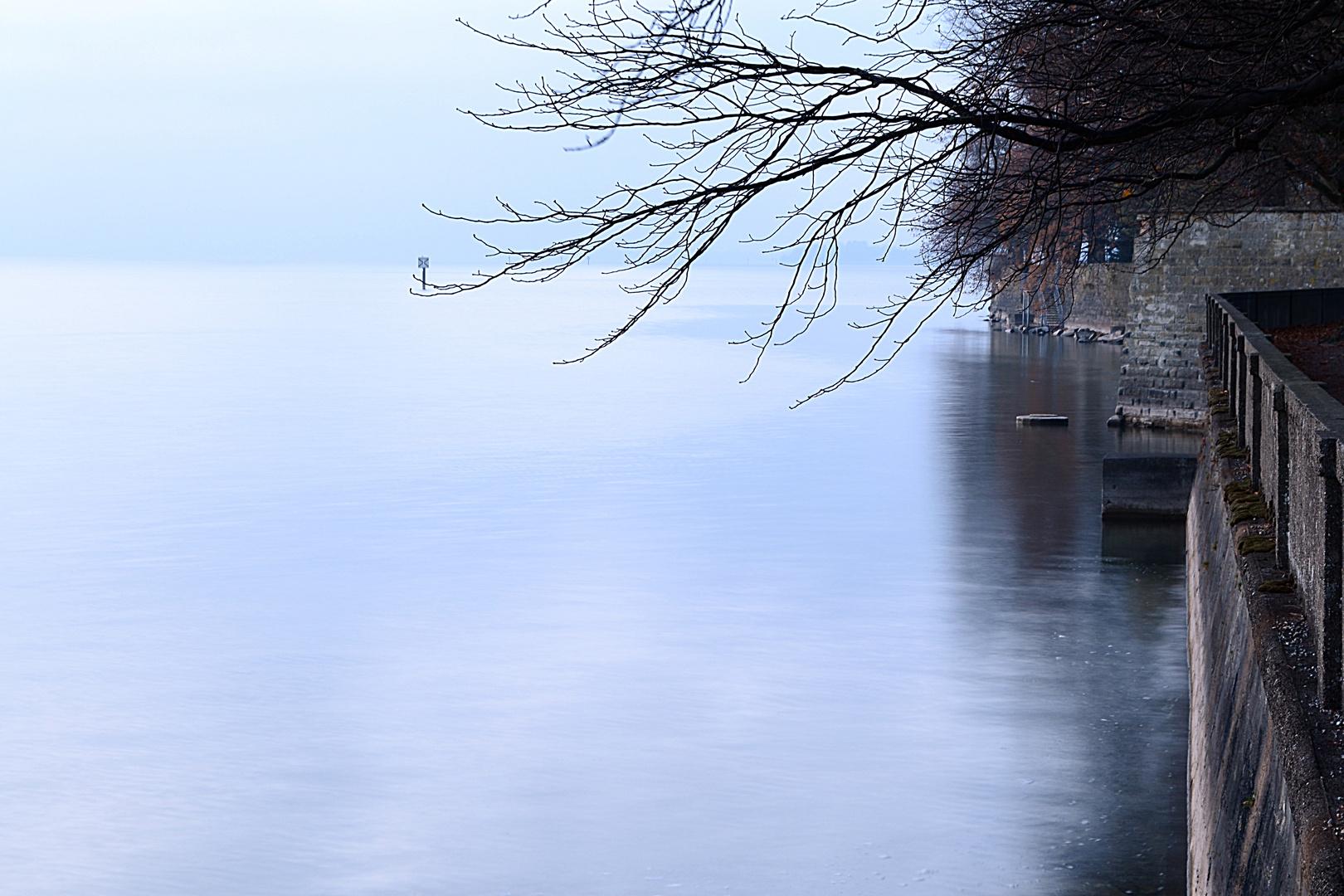 Novemberabend am Bodensee