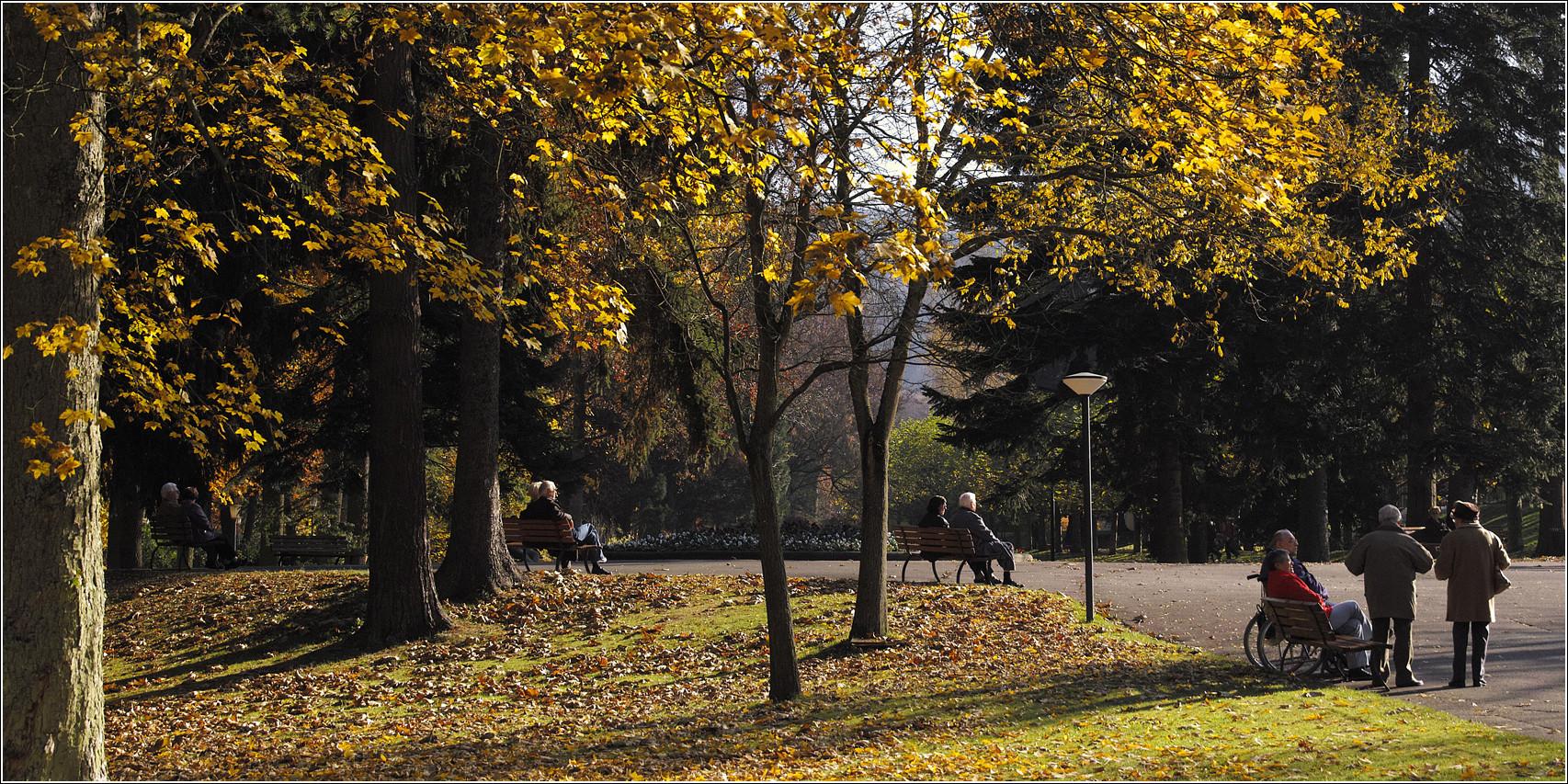 Novembersonne genießen
