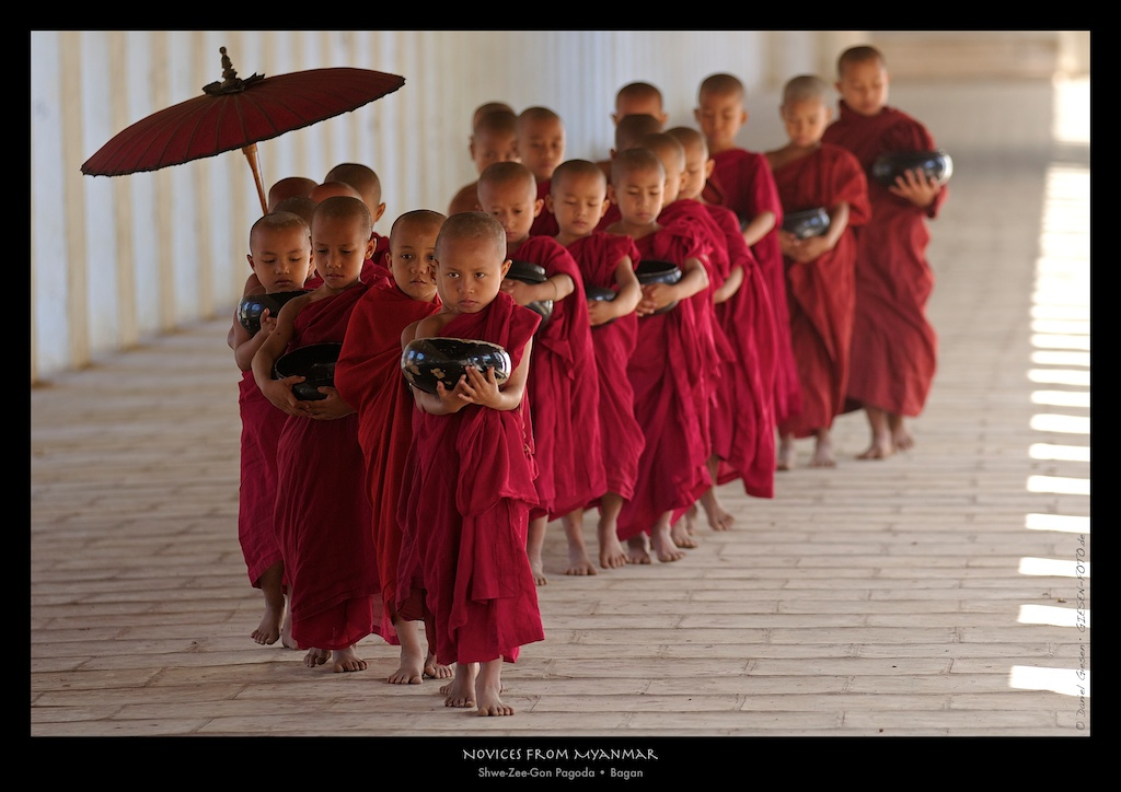 Novices from Myanmar, Bagan 2012