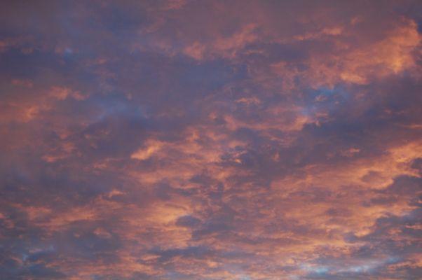 nuage au couché du soleil
