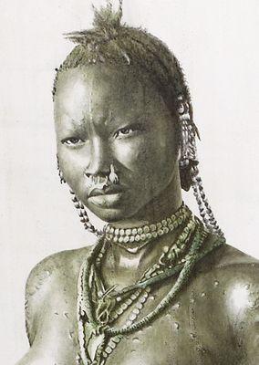 Nuba girl - sudan (detail)