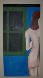 nude by window at night