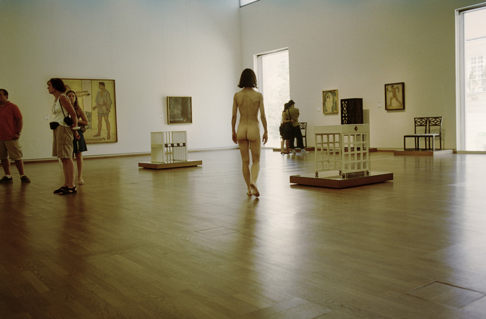 Nude Visiting An Exhibition