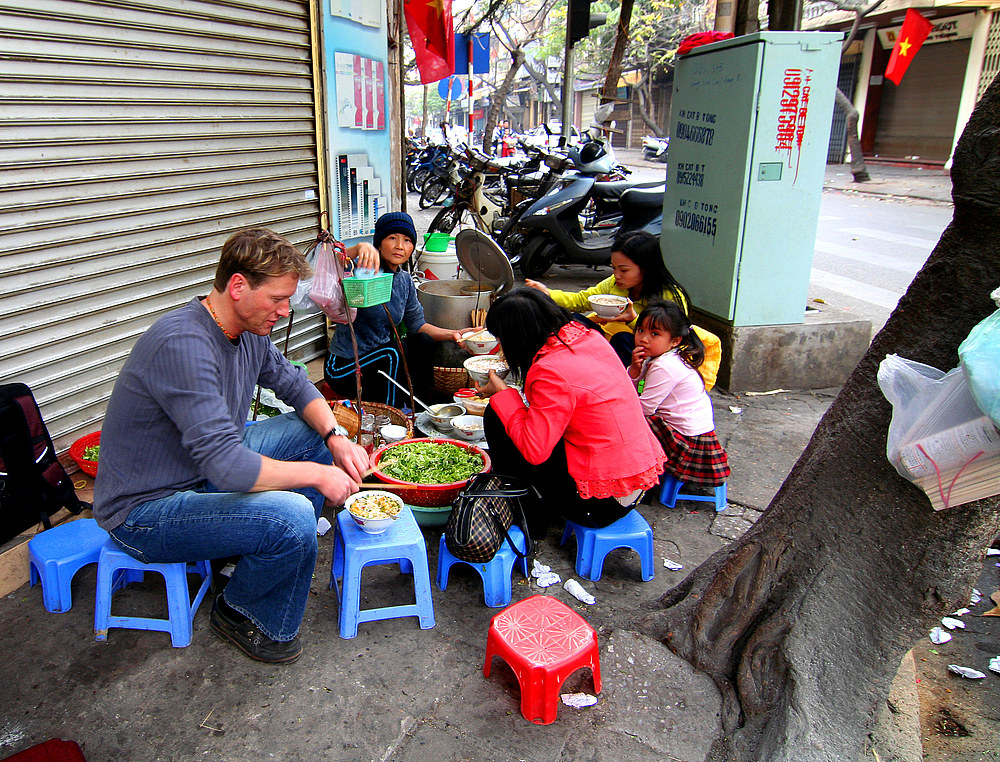 Nudelsuppe in Hanoi - Vietnam
