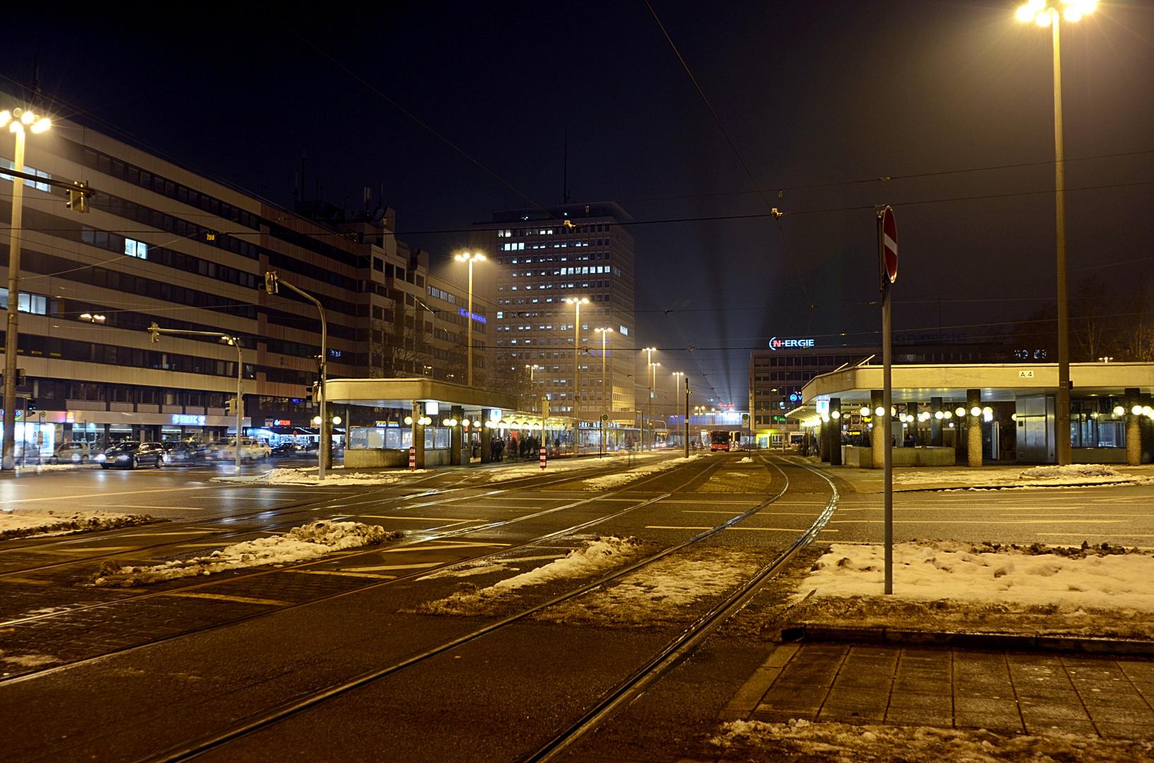 Nürnberg bei Nacht im Jahr 2013