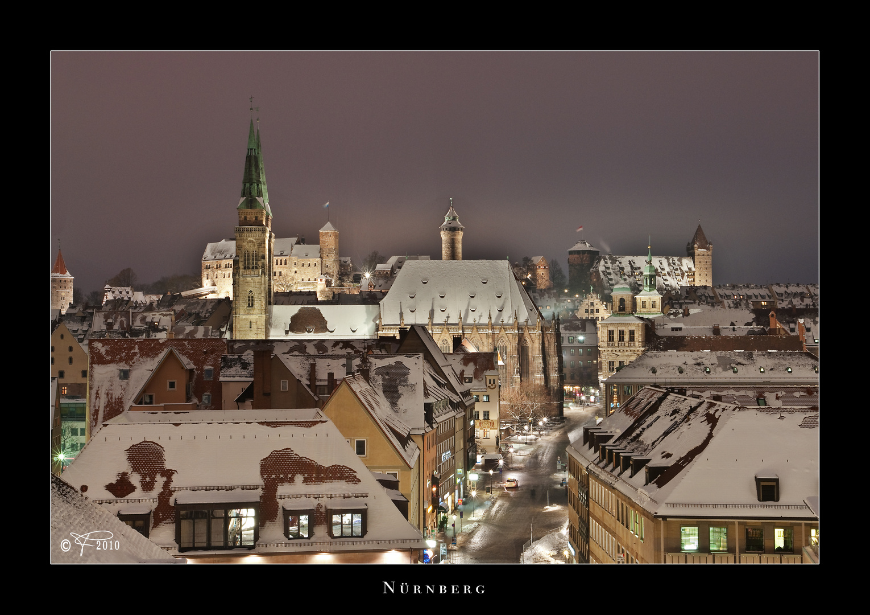 Nürnberg - schneebedeckt