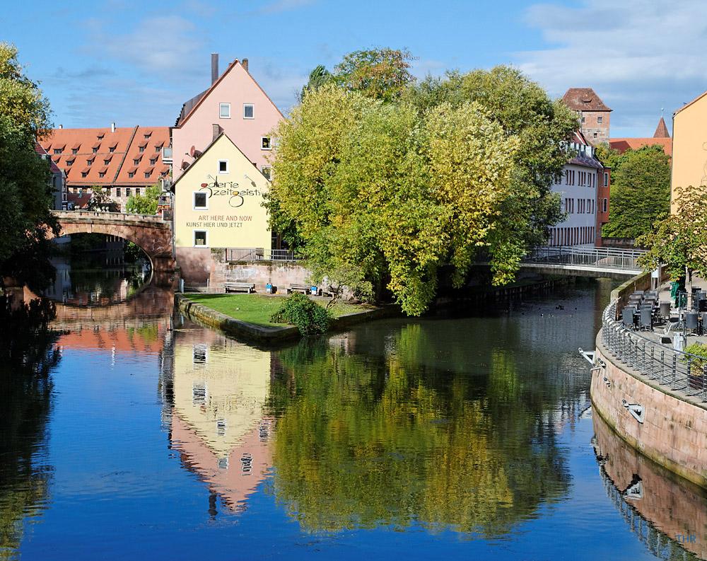 Nürnberg spiegelt sich