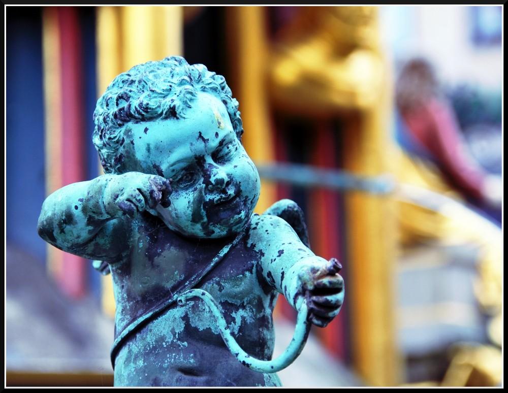 Nürnberger Kindskopf im schönen Brunnen