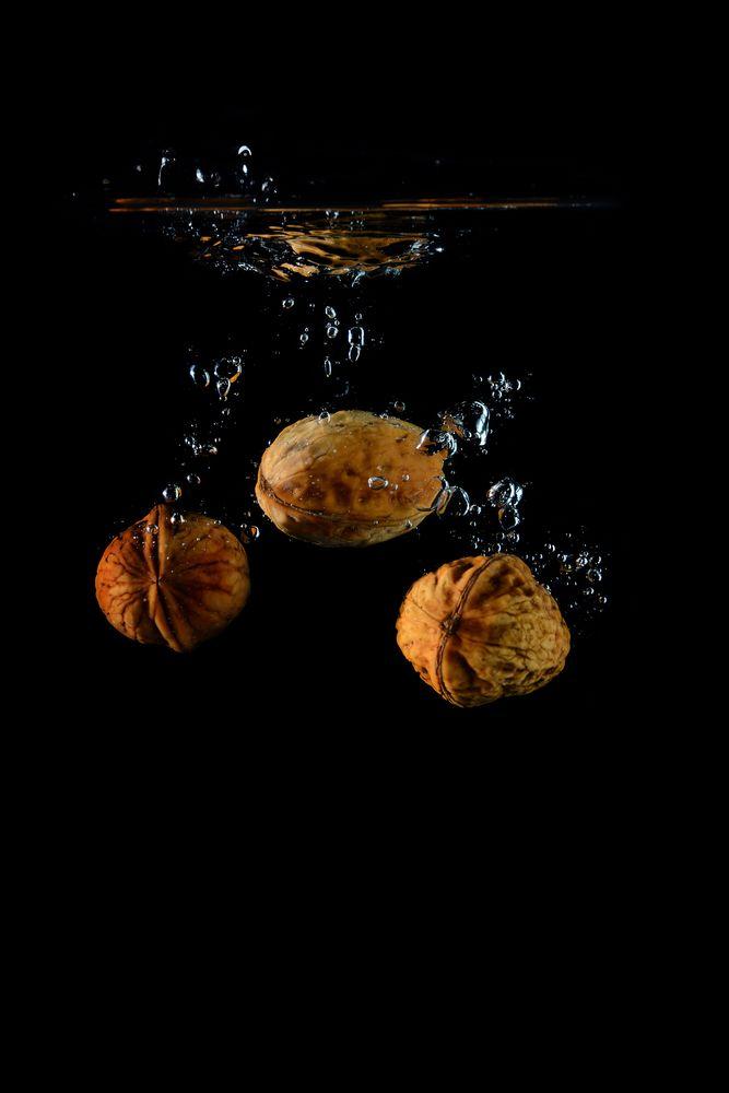 Nüsse auf Tauchstation