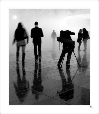 """Nuit Blanche"" 2013 sous brume dense... # 1"