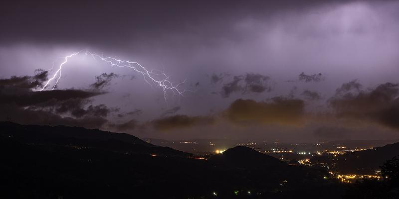 Nuit orageuse sur Saint-Péray