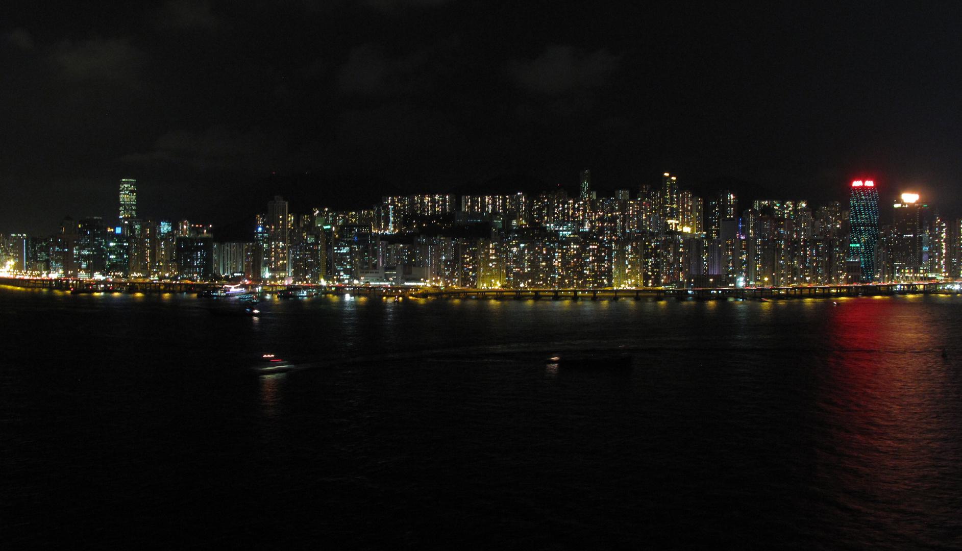 nuit sur les lumières de la ville