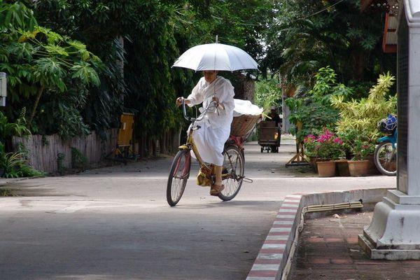 Nun in the sun in Chiang Mai Thailand