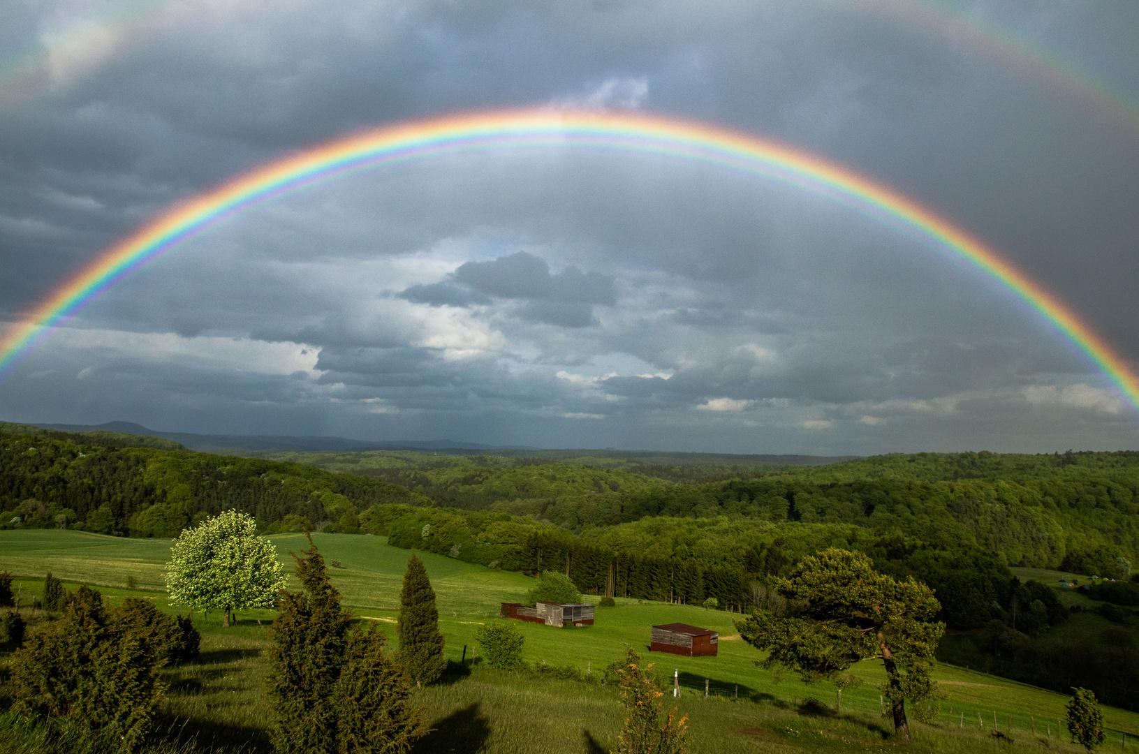 nun nach dem Regen am freitag in der Eifel kam die Sonne