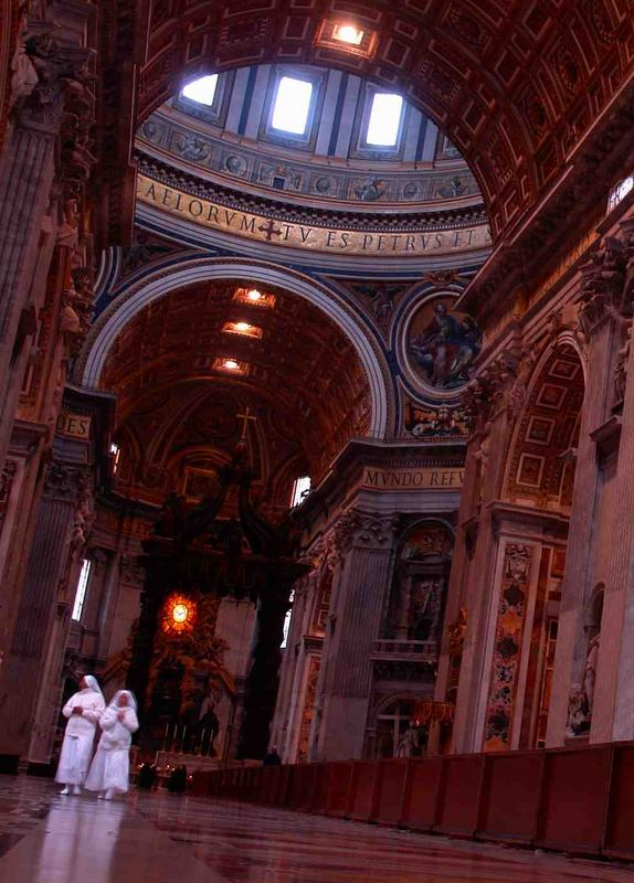 Nuns in St. Peter's Basilica; Vatican City
