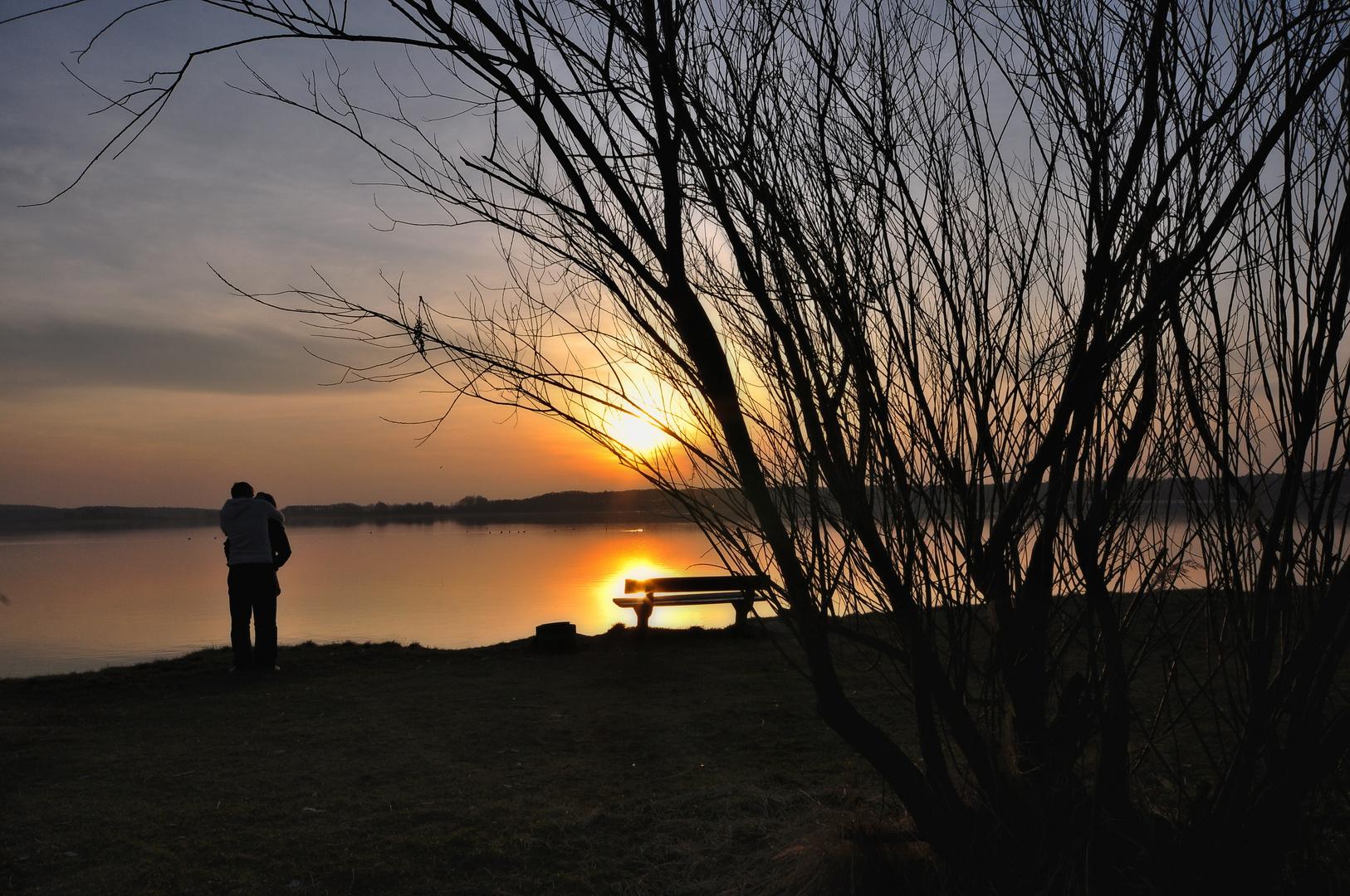 Nur der Sonnenuntergang hat`s gesehen.....