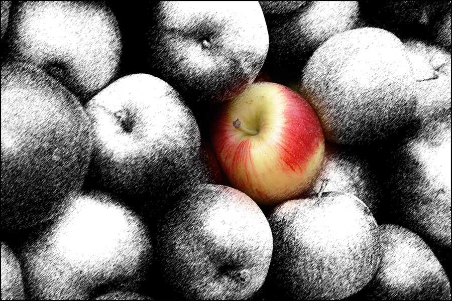 Nur ein Apfel...