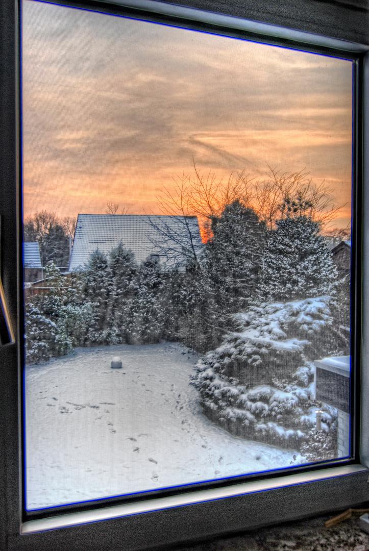 Nur ein Blick aus dem Fenster ...