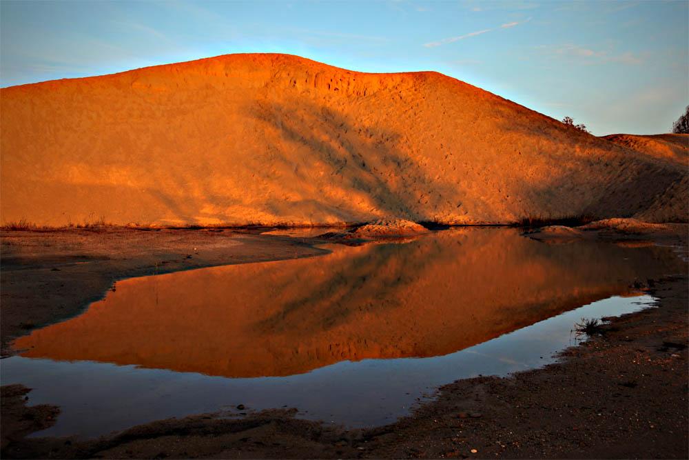 Nur ein Sandhaufen in Parkstetten