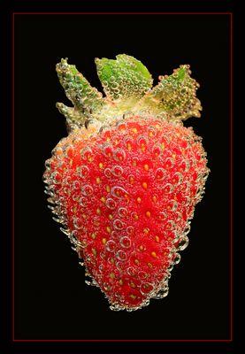 nur eine erdbeere