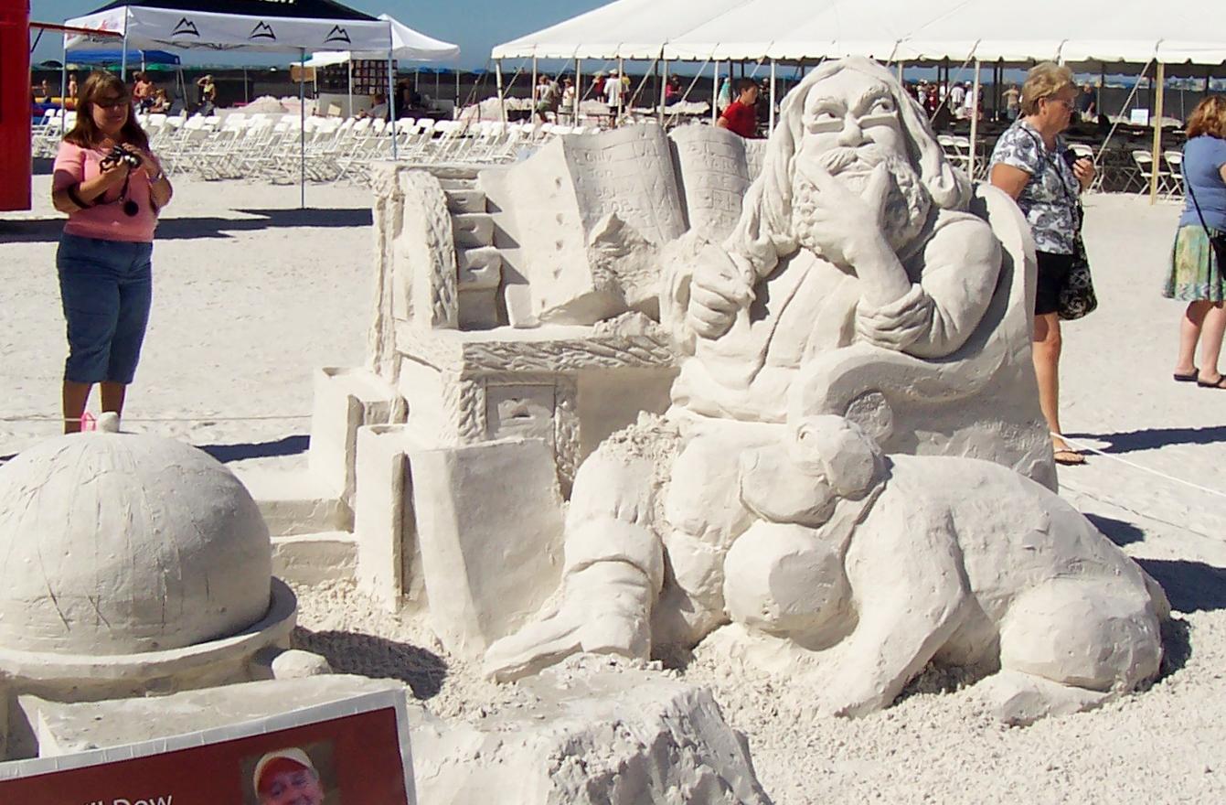 Nur Sand und Wasser