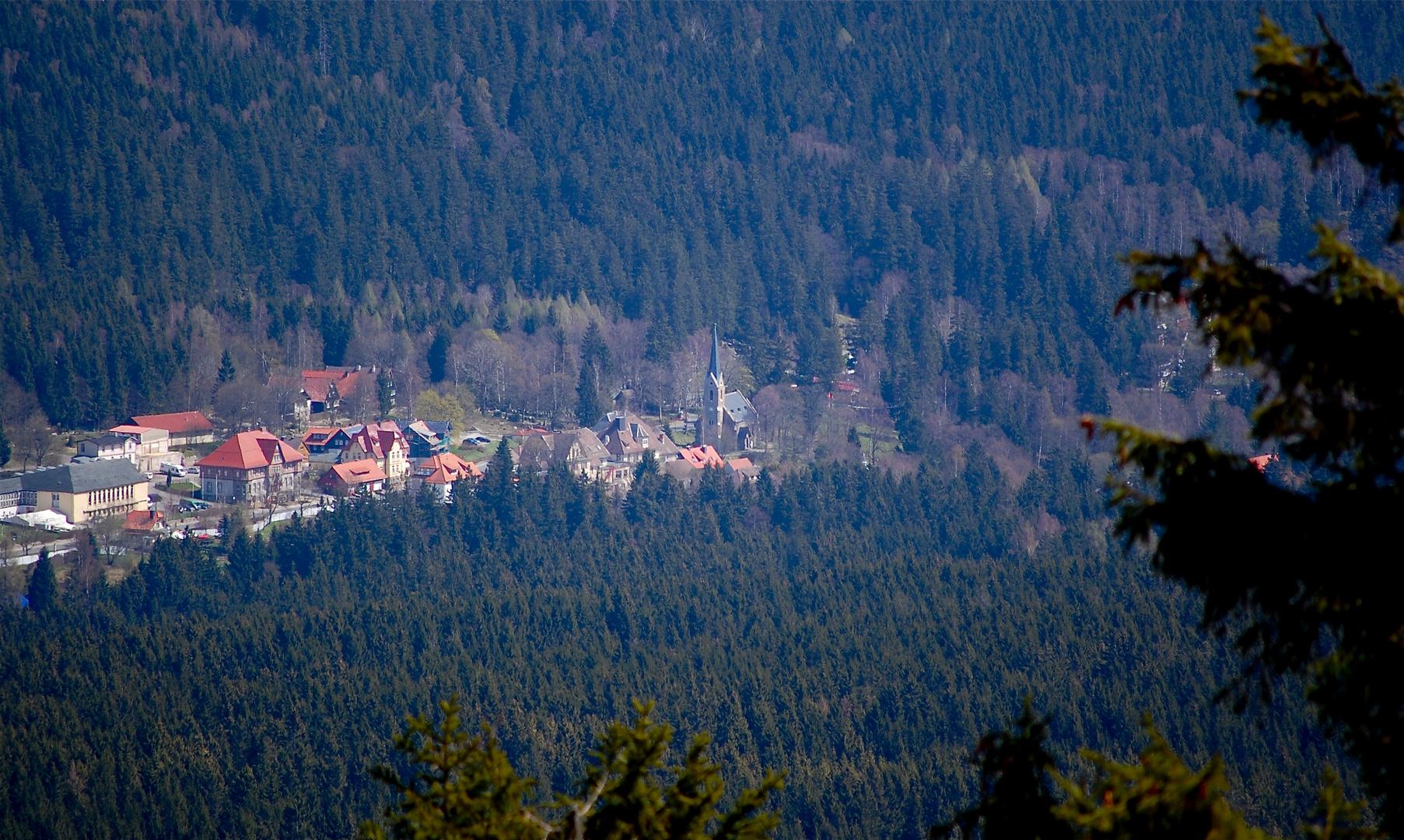 Nur vom Wurmberg aus kann man Schierke im Ostharz sehen