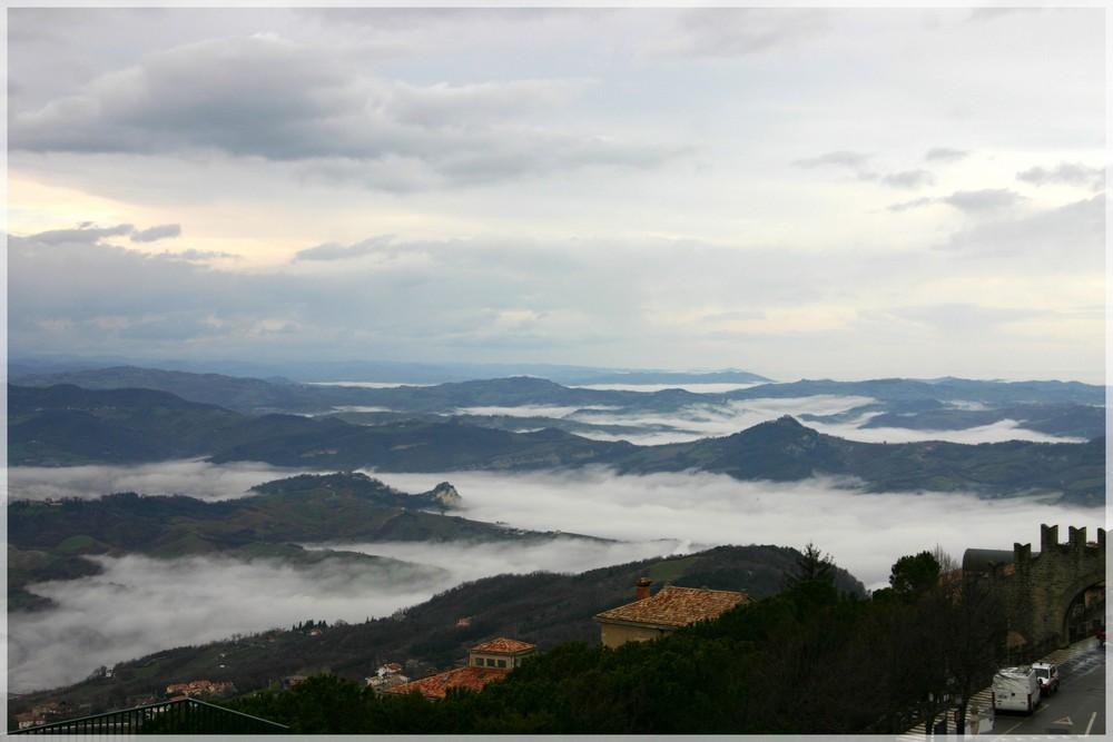 Nuvole sotto San Marino